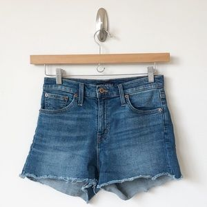 "J. Crew 10"" Highest-Rise Cutoff Boy Shorts Denim"